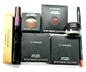 MAC Mixed Lot Mascara, Lipstick, Eyeshadow, Brow Powder, Eyeliner, etc Lot of 8