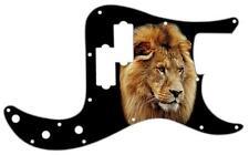 P Bass Precision Graphic Pickguard Custom Fender 13 Hole Guitar Pick Guard Lion