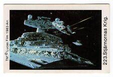 1983 Scarce Sweden Swedish Star Wars Card Stjarnornas Krig #223 Star Destroyer