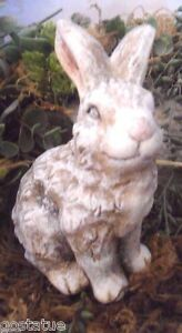 "Latex bunny rabbit mold plaster concrete casting garden mould 4"" x 3"" x 2"""