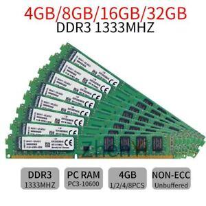 32GB 16GB 8GB 4GB DDR3 PC3-10600 KVR1333D3N9/4G RAM Desktop Para Kingston SP