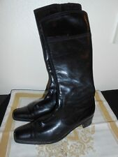 BETTY BARCLAY Womens 8.5 Black FINE Leather Boots Mid calf FREE SHIPPING!