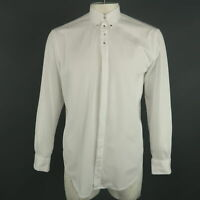 GIVENCHY Size M White Solid Cotton Button Down Long Sleeve Shirt