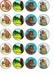 24  The Gruffalo edible  rice paper cup cake toppers,