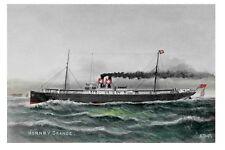 HORNBY GRANGE Houlder's 1st Steamship built 1890 Art Modern Digital Postcard