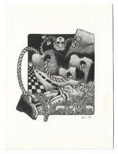 LESZEK KOWALCZYK: Exlibris für Grazyny Cyunelis