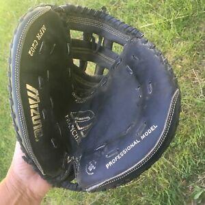 Mizuno MFR C202 Black Leather Catcher's Mitt Glove Right Hand Throw