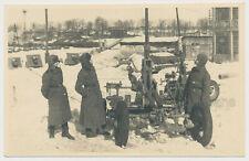Foto Russland-Feldzug Technik Wehrmacht Geschütze-Soldaten Winter (370x)