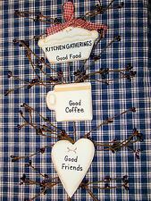 """Rustic Country Wood and Pip Plaque """"Kitchen Gatherings"""" Inspirational home decor"""