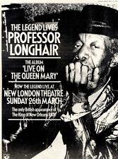 "ADVERT 15X12"" PROFESSOR LONGHAIR : LIVE ON THE QUEEN MARY ALBUM"