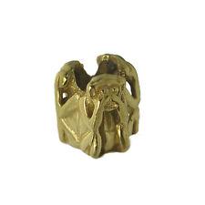 Three Wise Monkeys Trio Ape see speak hear no evil european bead charm GOLD PTD