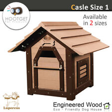 Lupercus Castle - Engineered Wood Dog Kennel Pet Wooden House Size1(2 sizes)
