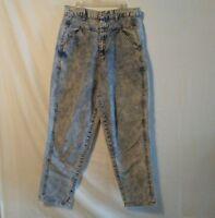 VTG Sasson Jeans Women's Sz 12 80s Blue Acid Wash Mom High Waist Tapered Leg