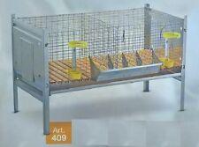 Conigliera gabbia conigli professionale 2 posti metallo zincata 100x66x66 access