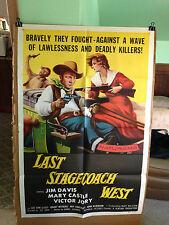 LAST STAGECOACH WEST-JIM DAVIS,MARY CASTLE.L.V.CLEEF-1957-ORIGINAL MOVIE POSTER-