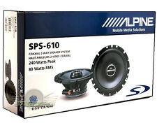 "ALPINE SPS-610 TYPE S 6.5"" CAR AUDIO COAXIAL SPEAKERS 2-WAY NEW SPS610 (PAIR)"