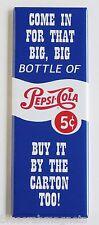 Pepsi Cola FRIDGE MAGNET (1.5 x 4.5 inches) soda push sign door bottle cap