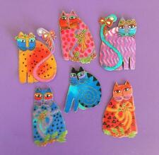 Laurel Burch Fabulous Felines Appliques*Handmade*Set of Six/68