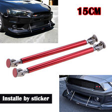 "6"" 15cm Adjustable Front Bumper Lip Splitter Strut Rod Tie Support Bar Red"