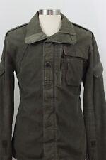 G-Star Raw Coat Jacket Men Sz XXL 2XL Military Full Zip Button Green Weathered
