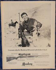 "ORIGINAL Advertising ""Robert Stack MOSSBERG Model 800 RIFLE"" 1-p Magazine 1968"