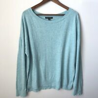 Banana Republic Womens Boatneck Sweater Size XL Mint Green Long Sleeve Pullover