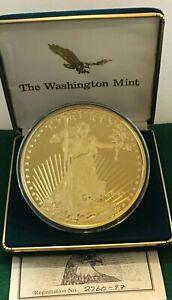 Washington Mint 8 oz Giant Half Pound .999 Silver, Golden Eagle Proof #2760