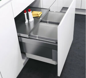 VS ENVI Space 49L Pull Out Kitchen Recycling Waste Bin for 500mm Unit SOFT CLOSE