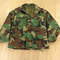 miltary cold weather field coat liner LARGE alpha usa vtg scovill camouflage m65