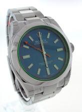 Rolex Blue Milgauss Blue Crystal Mens Watch 116400V 40mm