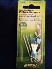 Anchor Wire Steel Picture Hangers 50lbs 3 pack new, free shipping