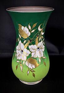 Grand vase en porcelaine avec fleur en relief or Wallendorf 1764 fait main