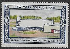Usa Poster stamp:1939 New York World's Fair: Production/Distribution - dw433/54