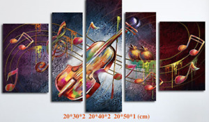 Set of 5 Canvas Diamond Full Drill Paint Cross Stitch Decor By Numbers D5P003