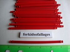 "100 KNEX RED RODS 5 1/8"" Long Pieces Bulk Standard Replacement Parts/Pieces Lot"