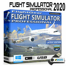 Flight Simulator Pro Software 2020 - Learn to Fly -16GB USB For Windows 10 8 7
