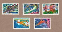 CYCLING SWIMMING OLYMPIC BARCELONA SPAIN = CANADA 1992 #1414-1418 SET MNH q05