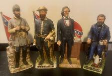 Limited Edition Confederate Decanters - Grant Jackson,Davis, Stuart. Beautiful