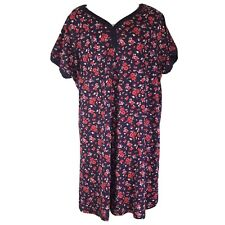 Dreams & Co Floral Gown Plus Size 22/24 Womens Cotton Sleep Shirt Pajamas