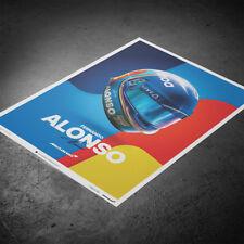 McLaren Fernando Alonso 2018 F1 Farewell 2018 Helmet Poster