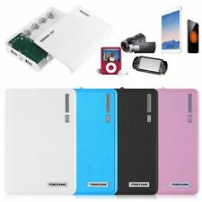 Dual USB 12000mAh Power Bank 4x18650 Battery Charger for iPhone 4s 5s 6 6s Plus