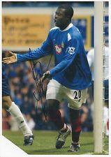 Yakubu aiyegbeni Portsmouth 2003-2005 fotografia originale firmato a mano