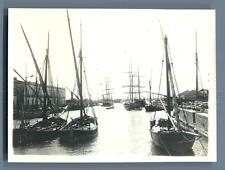 Italia, Siracusa, Porto Vecchio  Vintage silver print. Vintage Italy. Syracuse