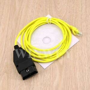 2M Ethernet to OBD Interface Cable E-SYS ICOM Coding F-Series for BMW ENET