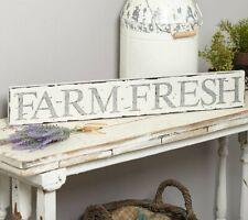 Farm Fresh Wall Plaque Sign Sentiment Distressed Rustic Primitive Farm Farmhouse