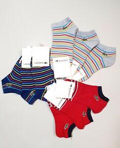 New LACOSTE Low Cut Ankle Socks Unisex 25-27cm Colorful Fashion Japan One Size