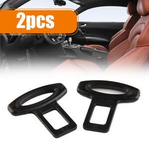 2× Universal Car Seat Belt Safe Buckle Plug Clasp Clip Alarm Stopper Accessories