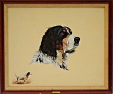 """Excellent Sporting Dog Original Oil Painting Portrait of a English Setter """"Bart"""""""
