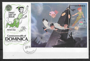 DOMINICA  , 1980 , DISNEY , PETER PAN , 1st DAY OF ISSUE ENVELOPE