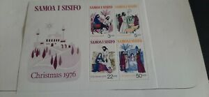 Samoa 1976 Christmas Stamps Min. Sheet.